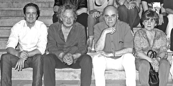 JA GARCIA DE CUBAS, JOACHIM KÜHN, RAÚL MAO Y MARIA ANTONIA GARCÍA, JULIO 2011. FOTO DE J NOMBELA