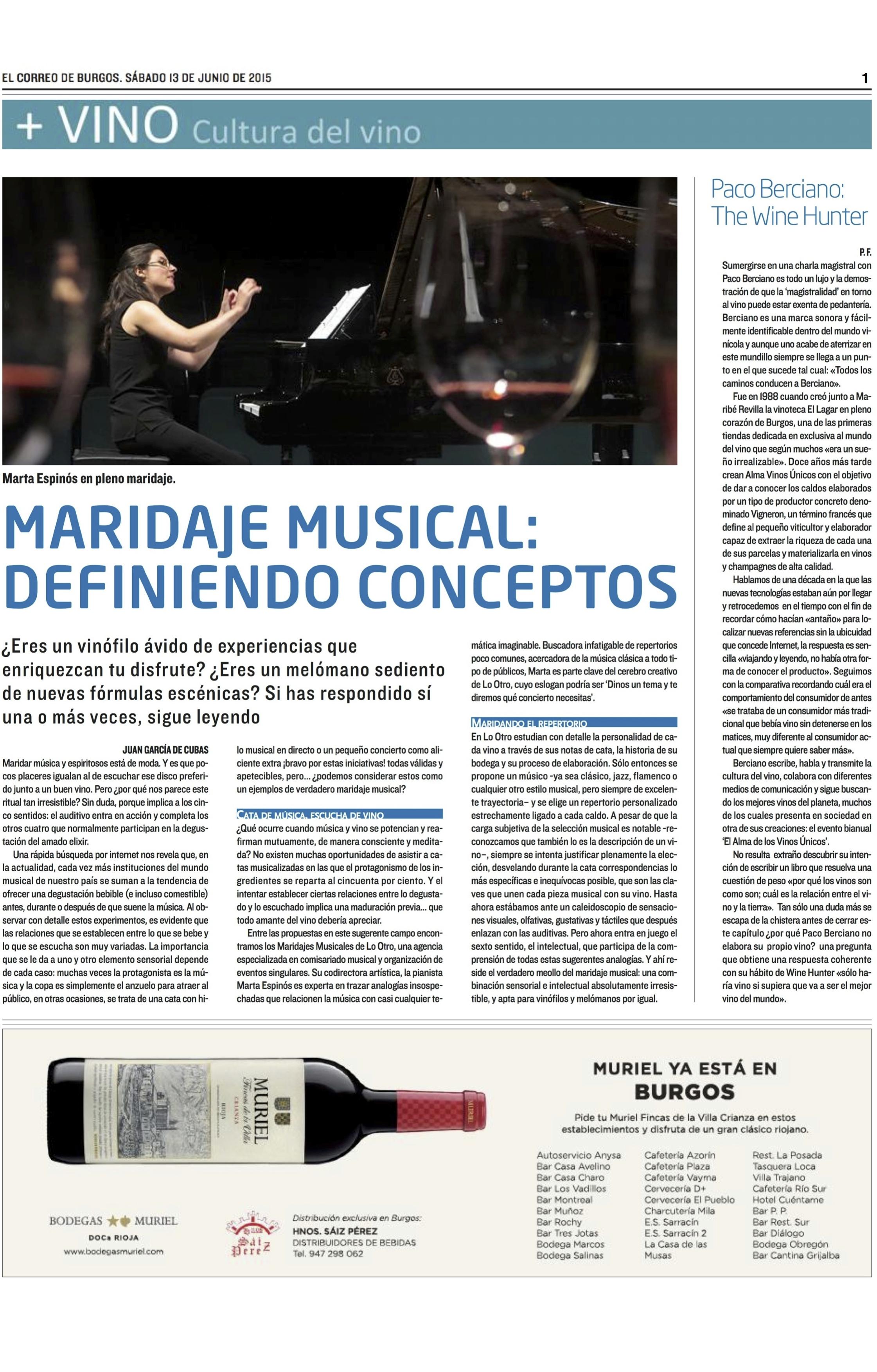 Suplemento + VINO El Correo de Burgos 13-6-15 copia